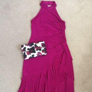 Vince Camuto Halter Cascade Dress